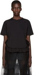 Simone Rocha Black Ruffled T Shirt