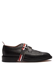 Thom Browne Longwing Grained Leather Brogues Black