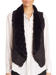 Tart Sheri Faux Fur Vest Grey Black