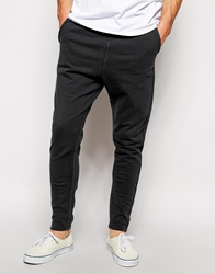 Solid Drop Crotch Sweatpants