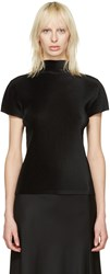 Issey Miyake Pleats Please Black Pleated Drama Sleeve Blouse