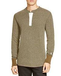 Todd Snyder Champion Long Sleeve Henley Olive
