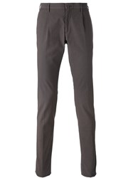 Incotex Skinny Tailored Trousers Men Cotton Spandex Elastane 54 Brown