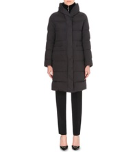 Armani Collezioni Down Filled Quilted Coat Nero Nero