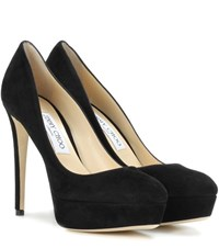 Jimmy Choo Ellis 120 Suede Platform Pumps Black