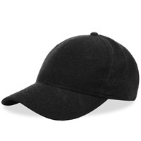 Wings Horns Stretch 6 Panel Cap Black