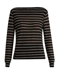 Vince Striped Cashmere Sweater Black Stripe