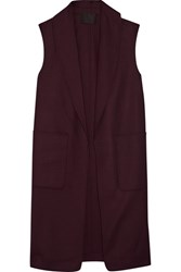 Alexander Wang Stretch Wool Gilet Burgundy
