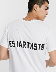 Les Artists Art Ists Essential T Shirt In White