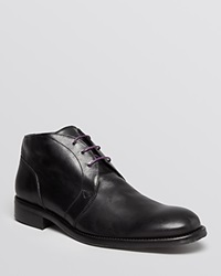Robert Graham St. Marks Leather Chukka Boots Black