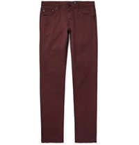 Ag Jeans Tellis Slim Fit Stretch Denim Burgundy