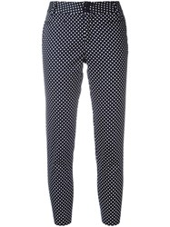 Steffen Schraut Polka Dot Cropped Trousers Blue