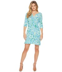 Hatley Lucy Dress Green St.Barts Blue