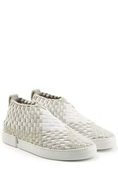 Casbia Woven Slip On Sneakers