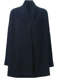 Arts And Science Draped Open Front Cardigan Blue