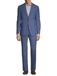 Michael Kors Slim Fit Classic Wool Suit Bright Blue