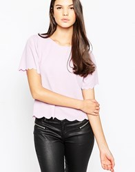 Ax Paris Scallop Edge Top Lilac