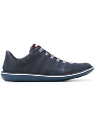 Camper Lace Up Sneakers Men Calf Leather Leather Rubber 45 Blue