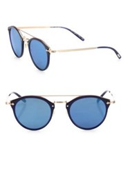 Oliver Peoples Remick 50Mm Round Sunglasses Blue