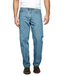 Levi's 550 Relaxed Fit Medium Stonewash Jeans Blue