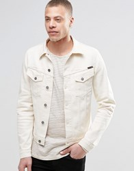 Nudie Jeans Billy Denim Jacket In Dry Twill Ecru Ecru White