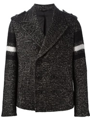 Neil Barrett Tweed Peacoat Black