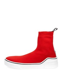 Givenchy George V Sock Sneakers Red