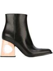 Marni Cut Out Heel Ankle Boots Black