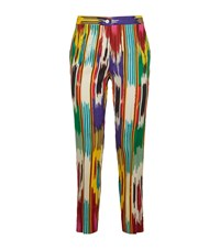 Etro Ikat Print Cropped Trousers Female Multi
