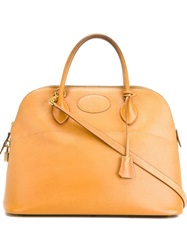 Hermes Vintage 'Bolide' Tote Bag Nude And Neutrals
