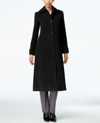 Jones New York Wool Blend Maxi Coat Charcoal