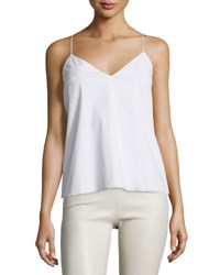 The Row Stretch Cotton Camisole Top White