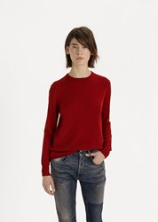 6397 Slash Sleeve Cashmere Pullover Dirty Red