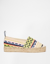 Love Moschino Multi Weave Flatform Espadrilles Multicolourwoven