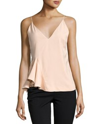 C Meo Collective Spelt Out Top With Side Peplum Orange