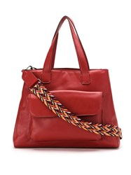 Mara Mac Leather Oversized Bag Red