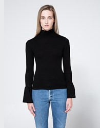Stelen Bell Sleeve Turtleneck Black