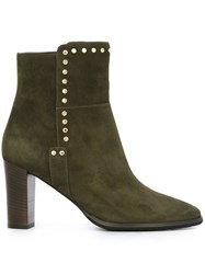 Jimmy Choo 'Harlow 80' Ankle Boots Green