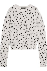 Equipment Ryder Printed Cashmere Sweater White