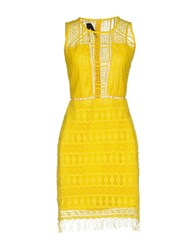 Toy G. Short Dresses Yellow
