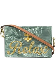 Edie Parker 'Lara' Box Clutch Blue