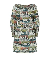 Burberry Printed Belted Dress Female Blue