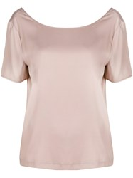 Tonello Scoop Neck T Shirt Pink And Purple