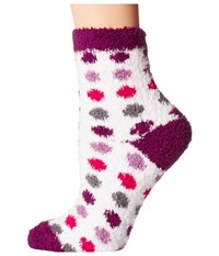Life Is Good Snuggle Crew Polka Dot Socks Cloud White Women's Crew Cut Socks Shoes