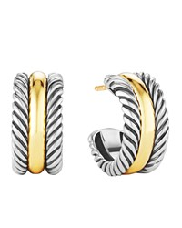 Cable Classics Hoop Earrings With Gold David Yurman