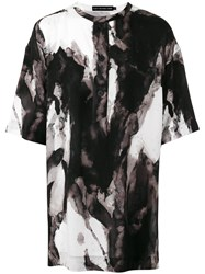 Issey Miyake Men Abstract Print Oversized T Shirt