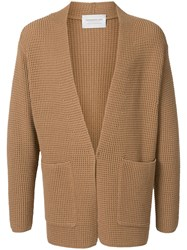 Tomorrowland Open Front Chunky Knit Cardi Coat Brown