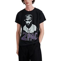 Madeworn 2Pac Cotton Jersey T Shirt Black