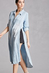 Forever 21 Longline Chambray Tunic