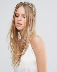 Love Rocks Pearl And Leaf Headband Gold